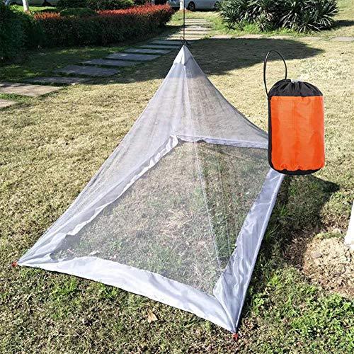 Ltong Moskito Zelt Insekten fernhalten Outdoor Camping Backpacking Zelt für Einzelcampingbett Anti Mosquito Net Bett Zelt Mesh Dekor, grau, 220X120X100CM