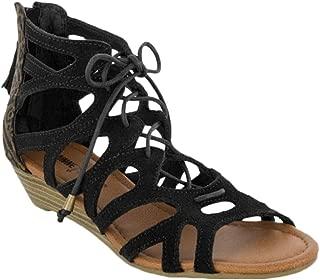 Merida II Women Open Toe Suede Gladiator Sandal