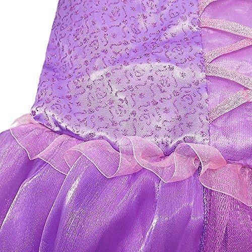 『【コスプレ】Desirabl 塔の上のラプンツェル ラプンツェル風ドレス 子供用 Sサイズ』の2枚目の画像