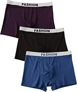 Qianbeili.vk Underwear 3Pack Men's Modal Breathable Loose Plus Size Boxer Briefs