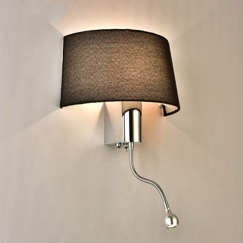 YNG Modernes Einfaches Lesetuch-Hotel-Wohnzimmer-Schlafzimmer-Gang führte Nachttischlampe mit Schalter-Amerikaner-Wand-Lampe
