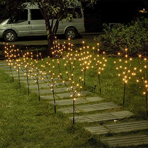 Vanthylit Set of 2 3PK 30 Brown Lighted Twig Stakes 120 Warm White Pathway Light for Outdoor product image