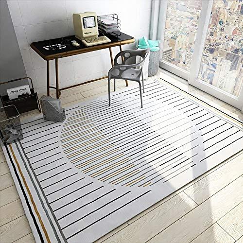 QWEASDZX Carpet Polyester Soft Bedroom Living Room Sofa Rug Table Yoga Mat Decorative Rug Mat 100x160cm