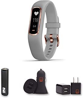 Garmin vivosmart 4 - (Rose Gold w/Gray) Activity and Fitness Tracker w