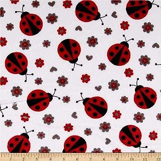 Shannon Fabrics Shannon Minky Cuddle Lady Bug Scarlet Fabric By The Yard
