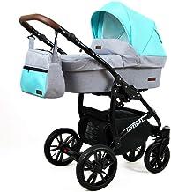 Cochecito de bebe 3 en 1 2 en 1 Trio Isofix silla de paseo Maximum by SaintBaby Silver Mint 3in1 con Silla de coche