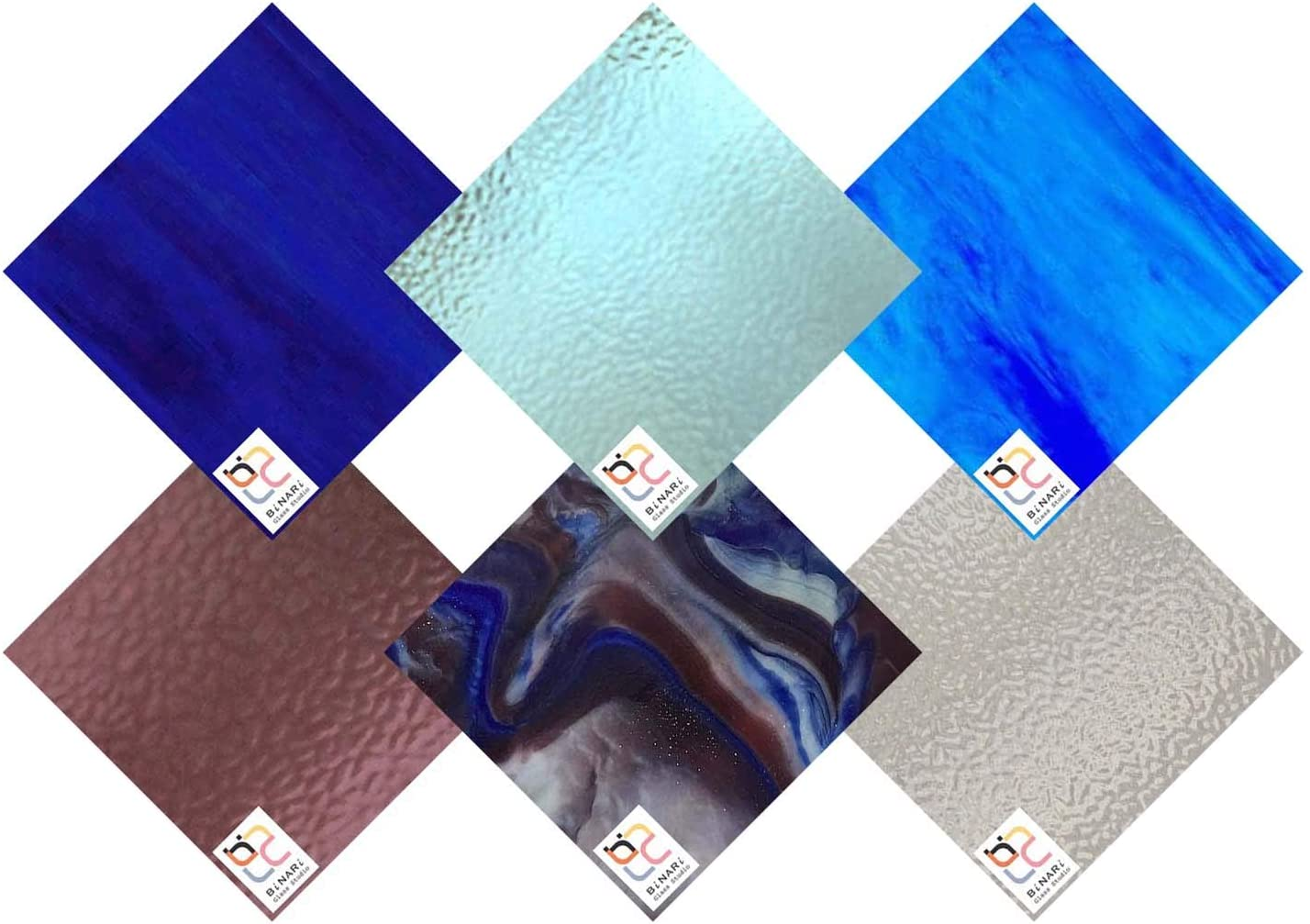 Wissmach 6 Sheet Mixed Color Variety Glass Save money Max 79% OFF ICY Sto Stained Pack
