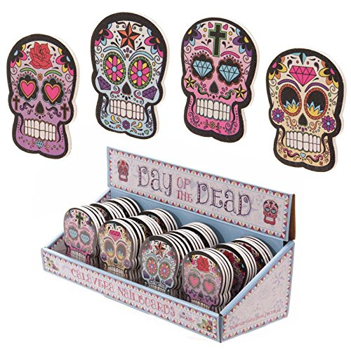 SET OF TWO SUGAR SKULL EMERY BOARDS FOR A GREAT STOCKING FILLER by Fish Around