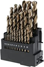 Perfk 25 PCS M35 HSS & 5% Cobalt Drill Bit Set For Metal, Wood, Plastic, 1~13mm