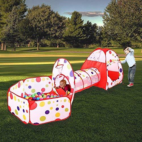 Marysa Kinder Spielen Zelttunnel, Kinderspielhaus Game House 3 in 1 Set, Indoor Outdoor-Spielzelt und Tunnel mit Basketballkorb mit Reißverschluss-Aufbewahrungstasche