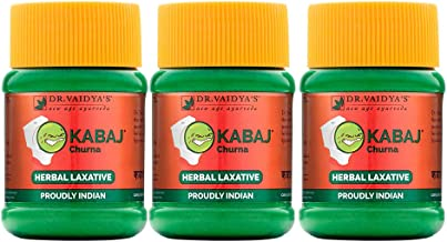 Dr. Vaidya's New Age Ayurveda | Kabaj Churna | Ayurvedic Churna For Constipation | 50g Each (Pack of 3)