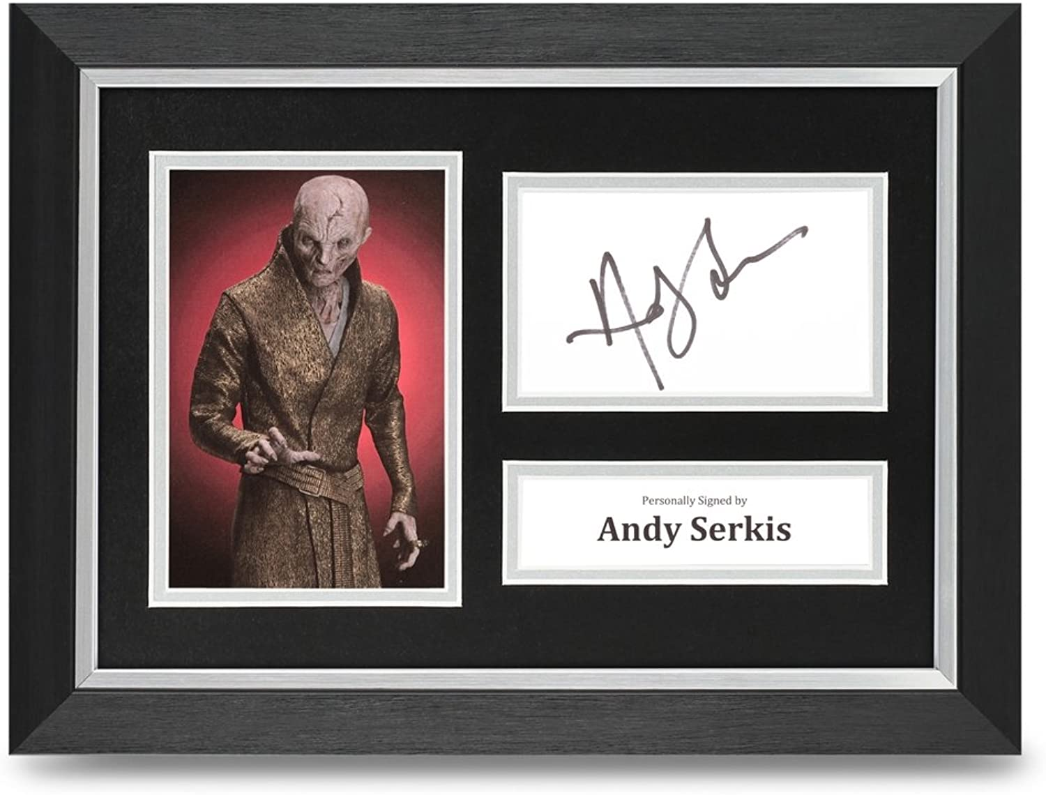 Andy Serkis Signed A4 Framed Photo Display Star Wars Autograph Memorabilia + COA