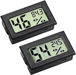 ZHITING hygrometermätning, mini LCD digital skärm, utomhustemperatur, luftfuktighetsmätare för humidörer, växthus och käll...