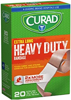 CURAD Heavy Duty Bandage Extra Long 20 Each .75 x 4.75 in ( Pack of 3)