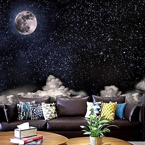 TEDDRA Tapiz de cielo estrellado mandala lunar tapiz colgante boho decoración macramé hippie brujería tapiz - 200x150_marrón aceite oliva