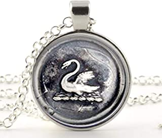 Once Upon a Time Emma Swan Pendant Necklace Vintage Glass Pendant Necklace Jewelry Best Friend Gift
