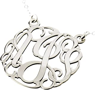 diamond monogram necklaces