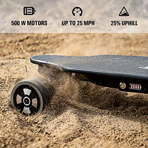 SKATEBOLT Electric Skateboard Longboard with Remote Controller, 25 MPH Top Speed, 18.6 Miles Max Range, Dual Motors, 8 Layers Maple with Updated Board - 2nd Generation