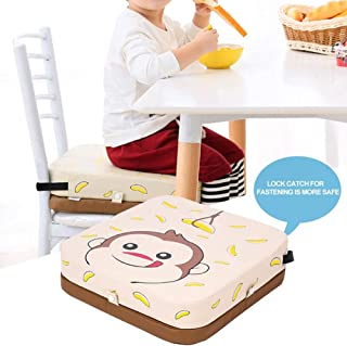 Cuscino Rialzo per Bambini Portatile gouxia74534 per Sedia da Pranzo Motivo: Animali Beige Regolabile