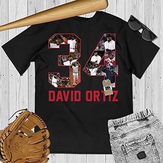 David-34 Big-Papi Baseball Legend Respect Remember Rest-Ortiz Customized Handmade Hoodie/Sweater/Long Sleeve/Tank Top/Premium T-shirt