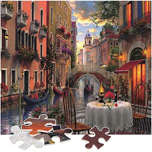 Rompecabezas Puzzle 1000 Piezas, Marvel Puzzle Paisaje de Venecia Puzzle Educa Inteligencia Jigsaw Puzzles con Marco Puzzles de Suelo para Niños Adultos