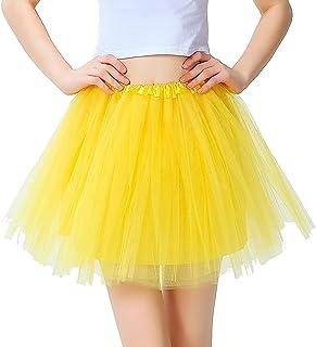 ab81de9fd3a1 InnoBase Tutu Falda de mujer falda de tul 50's Short Ballet 3 capas  Accesorios de vestimenta