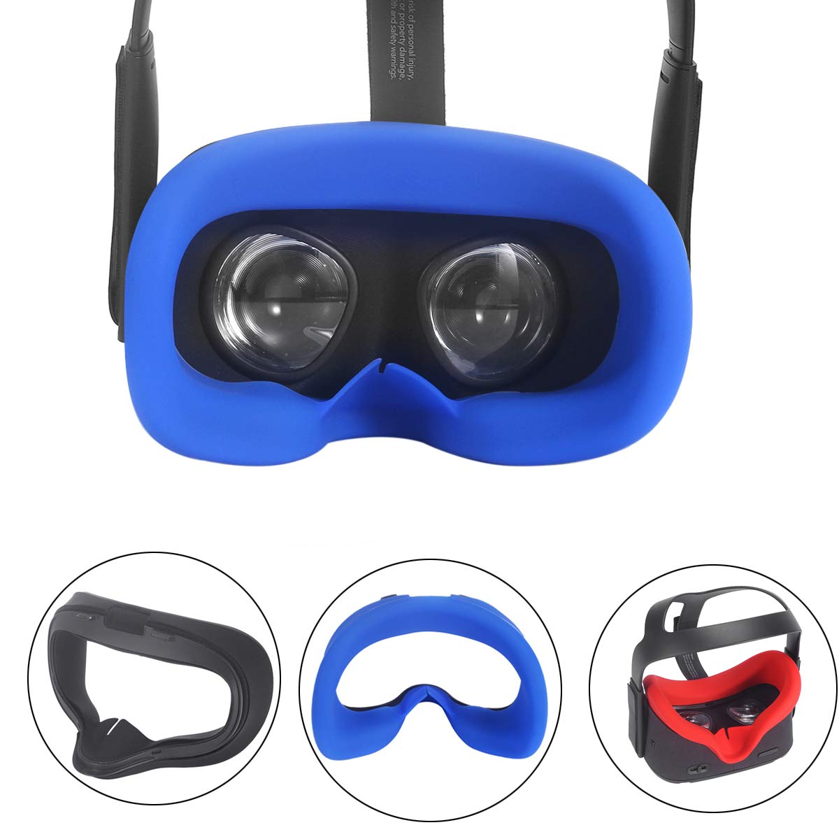 Mask Cushion VR Silicone Mask Pad /& Sweatproof Face Cover Compatible for Oculus Quest Face Cushion Blue