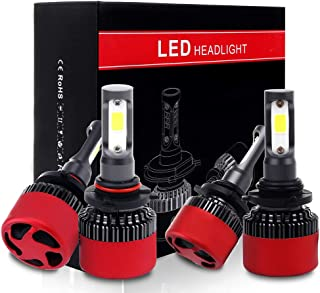 ECCPP 9005+9006 LED Headlight Bulb Super Bright Cree White Auto Headlamp Conversion Kit High Low Beam - 19200Lm 160W 6000K Focus Light(Pack of 4)