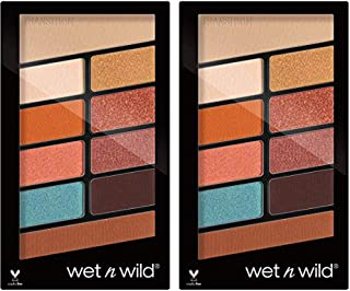 Wet N Wild Color Icon Eyeshadow 10 Pan Palette, 760 Not a Basic Peach, 0.35 oz (Pack of 2)