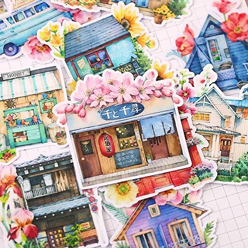 YRBB 18 stuks Creative Kawaii zelfgemaakte oude lampen/lantaarns Mooie stickers/decoratieve stickers/DIY ambachtelijke fotoalbums