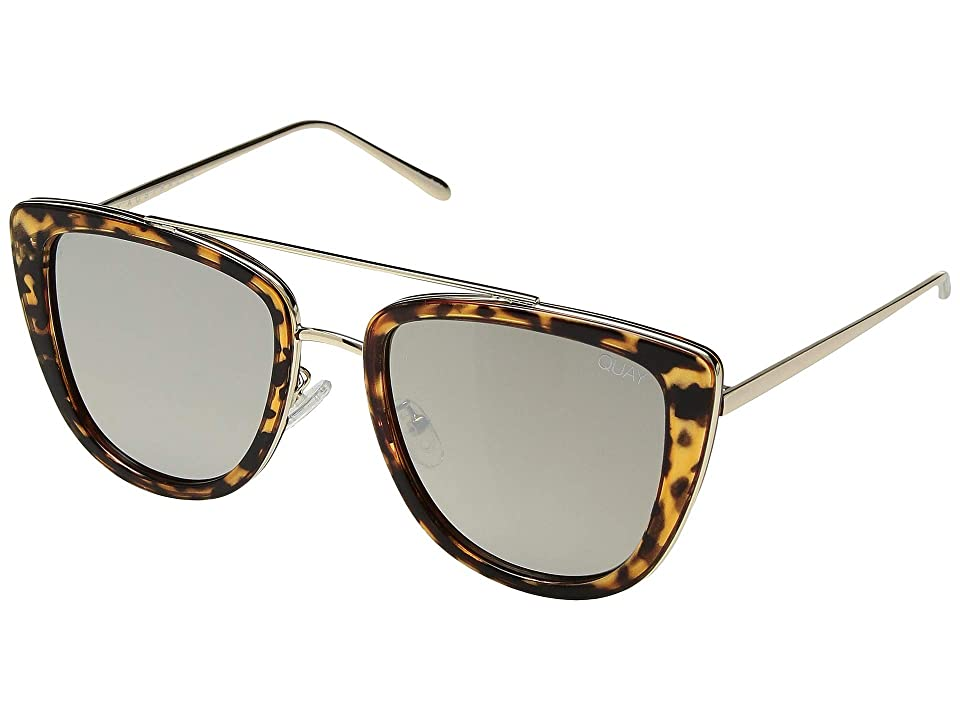 QUAY AUSTRALIA French Kiss (Tort/Gold) Fashion Sunglasses