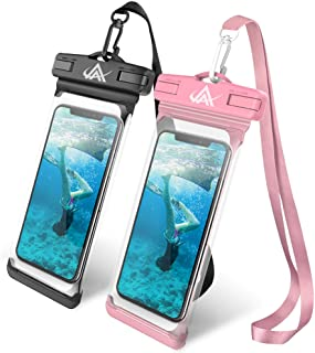 LKJ Universal Waterproof Case, Waterproof Phone Pouch Dry Bag Compatible with iPhone Xs/XR/XS Max/8/7/7 Plus/6S/6/6S Plus, Samsung Galaxy S9/S9 Plus/S8/S8 Plus/Note 8 6 5 4,HTC-[2 Pack]