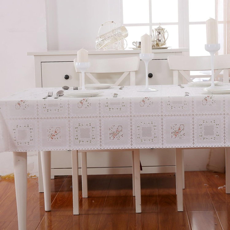 XKQWAN Spitze Pvc tischdecke Wasserdicht Einweg-tischdecke European-style coffee table cloth Tischtuch Wasserdicht tischdecke-A 137x210cm(54x83inch) B07CLR21FT Elegant  | Erste Qualität