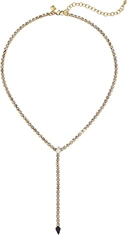 Clara Stone Fringe Y-Necklace