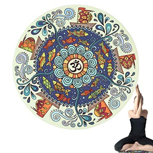 Yoga Mat, Hit De Kussen, Deurmat, Suede Natuurlijke Rubber Multifunctionele Natte En Droge Slip Kleine En Handige Draagbare Reizen Thuis Meditatie