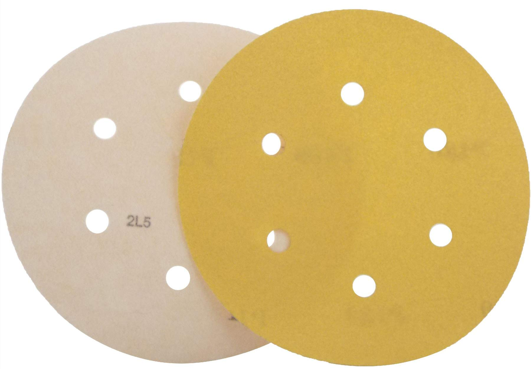 "Pro Range By Mirka 150mm 6/"" 6+1 Hole Vecro Discs Box//100 ..You Choose Grit"