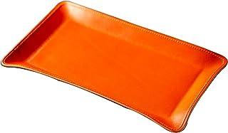 [アム デ マス] 小物 トレー ロング 栃木レザー 本革 日本製 卓上 小物入れ アクセサリー ハンドメイド 軽量 TY-007 オレンジ