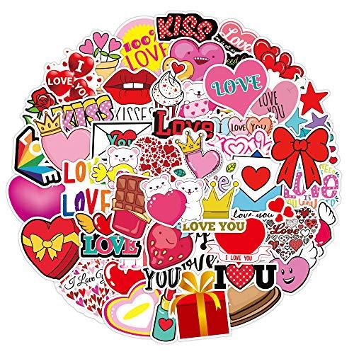 DSSJ 50 Pegatinas de Graffiti de Amor para el día de San Valentín, Maleta Impermeable, portátil, Scooter, Nevera, Pegatinas