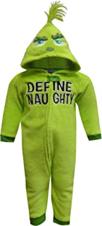 MJC Boys' Dr Seuss Grinch Define Naughty Toddler Onesie Pajama