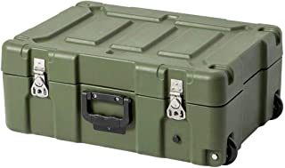 Monoprice Rotomodeled Weatherproof Case - Green (21 x 14 x 8 inches) Stackable with Customizable Foam and Wheels - Pure Outdoor Collection