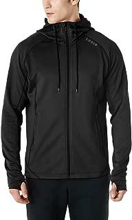 Tesla Men's Active Running Hoodie Full-Zip Jacket
