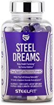 Steel Dreams, SteelFit, Non-Habit Forming Sleep Support and Recovery Formula, Fall Asleep Naturally, 90 Count, 1 Month Supply