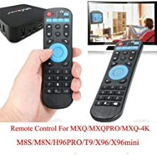 Calvas Wireless Replacement Remote Control Android Smart TV Box X96 T95 H96 V88 MXQ 4K Upgraded - (Color: Black)