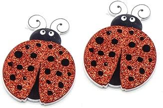 David accessories 25 Pcs Ladybug Slime Charms Glitter Flatback Planar Resin Embellishments Cabochons for Hair Bows DIY Craft Scrapbooking Jewelry Decor (Ladybug)