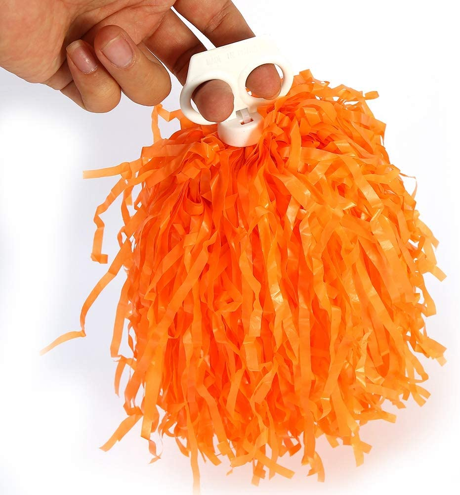 VGEBY1 Cheerleader Pom Poms Cheerleading Poms with Ring for Cheering Squad 2pcs