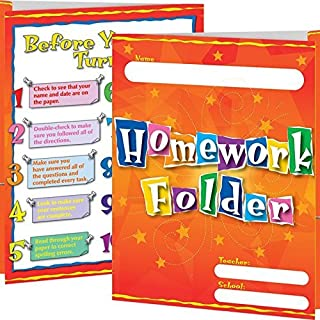 Really Good Stuff 154268 Homework Folders, Assorted