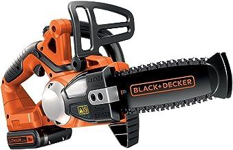 BLACK+DECKER GKC1820L20-GB Cordless 20 cm Chainsaw with 2 Ah Lithium Ion Battery, 18 V