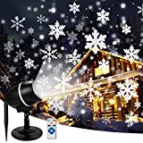 Christmas Moving Snowflake Projector Lights with Remote Control Snowfall LED Christmas Lights, Waterproof Projector Decorating Stage...