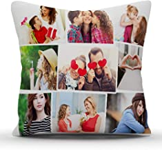 PIXART 9 Photo Printed Decorative Customized Cushion Size (16X16 Inch.)
