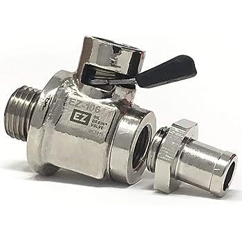 EZ-106 EZ Oil Drain Valve with removable Hose End Combo